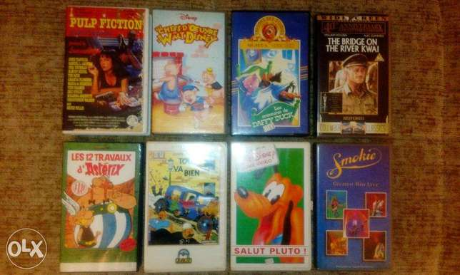 starting 2$ collection of vhs original tapes check list inbox