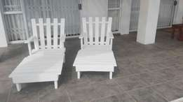 2 swimming pool chairs for sale