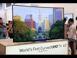 Quality UHD movies on the Samsung 65 curved UHD 4k SMART led tv