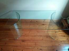 Full glass dining room table