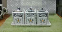 Ceramic sugar cans 3pcs