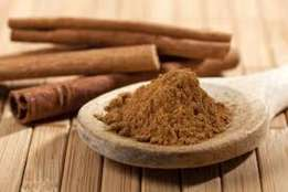 Authentic cinnamon sticks and powder