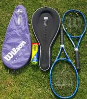 Rackets with Wilson covers