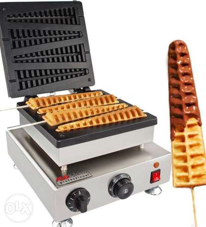 Commercial Electric Lolly Waffle Maker Machine Baker