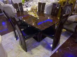 Pure wooden executive dining table set