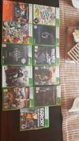 Xbox with games and kinect