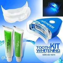 Teeth Whitener, Dental Care, Oral Treatment With LED Light, Gel And To