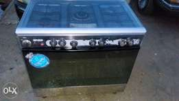 ROYALTY Italian 5burner industrial gas cooker with oven and grill