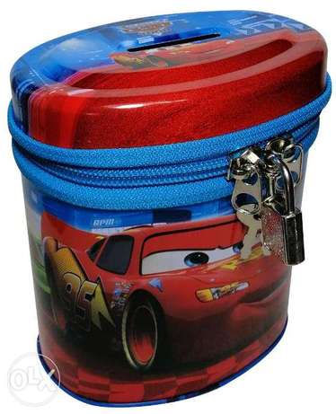 Brand New Cylinderical Money Box - Cars