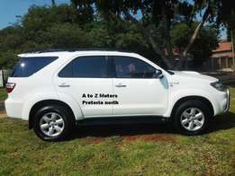 2009 Toyota 3.0 Fortuner D4D 4x4 SUV for Sale: