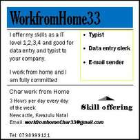 I can do Data entry and typing for your company