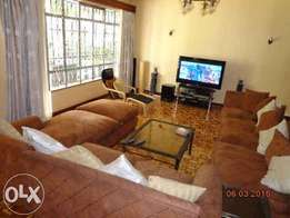 furnished 4 bedrooms house to let in eldoville per day