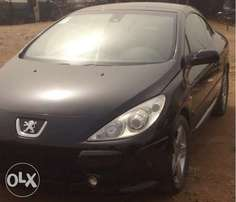 Black Peugeot Car - 307 CC Convertible