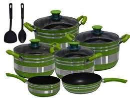 New 12 pcs Non-stick cooking pots. Anywhere Delivery.-Free Cbd