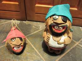 Pirates ~ Face & Body made out of Coconut Heads