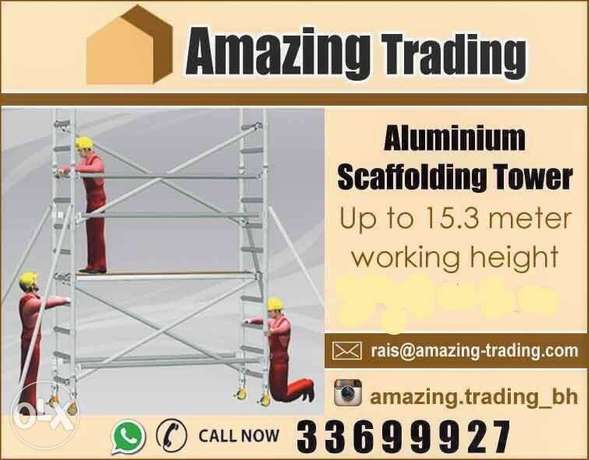 CHEAPEST and safest Aluminium Tower Scaffolding for sale in Bahrain
