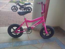 12'' Maxed girls bicycle for sale, pink and black