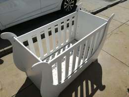 White Sleigh Cot - Good Condition