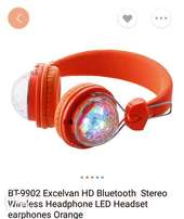 HD Bluetooth 3.0 stereo wireless headphone with LED light, Mic Hands-f