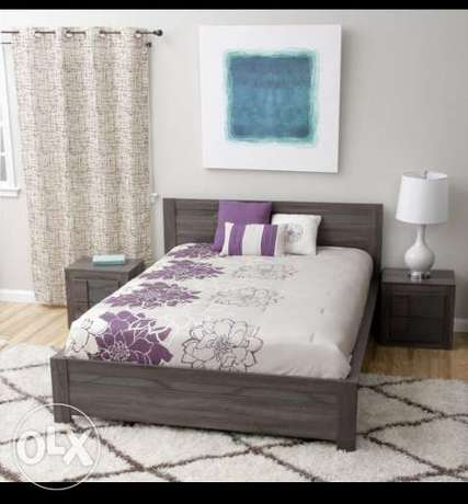Queen size bed with quality mattress and side cabinets Ziwani Kariokor - image 1