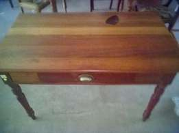 Antique Kiaat desk with drawer