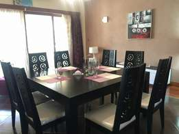 QUICK SALE! Imported 8 seater Dining table with chair, blackish wooden