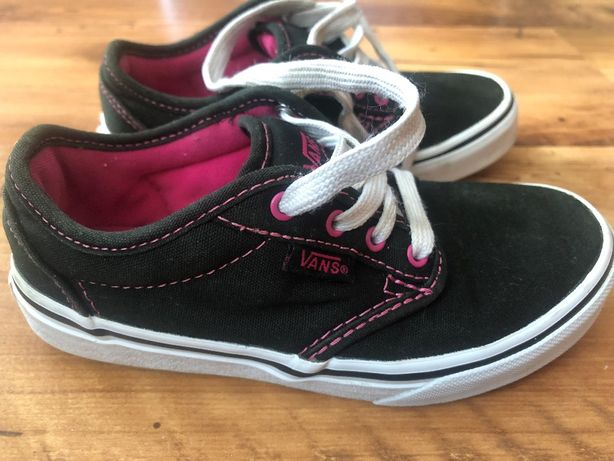 Buty sportowe Dziecięce Vans Atwood Canvas Black Czarny