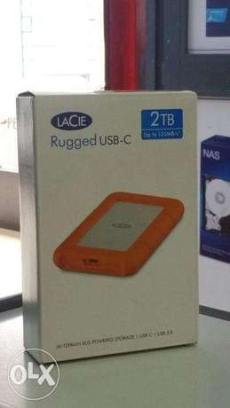LaCie Rugged USB-C and USB 3.0 2TB Portable Hard Drive Westlands - image 1
