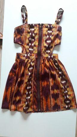 9b4040f020 Sukienka letnia wycięte boki piękna zwiewna rozpinana 34 36 xs s seksi  Turek - image 1