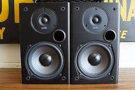 BRAND NEW Polk Audio T15 Bookshelf Speakers Pair Black 0