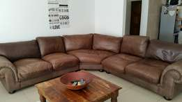 Coricraft leather couch