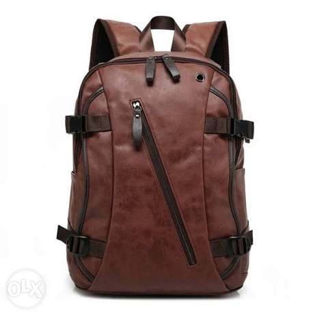 شنطة ظهر جلد | leather backpack