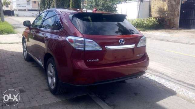 Red colour 2010 model Lexus RX 450h KCP number Mombasa Island - image 2