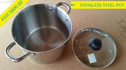 Non-Stick Stainless Steel Cooking Pot.