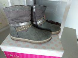 522cd2bf NOWE Botki/kozaki dziewczęce r. 29 szare buty Suwak