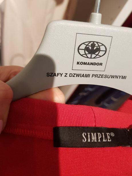 3b8cd04fb5 Sliczna firmowa bluzka L 40 koszula lato print goraca czerwien SIMPLE  Szczecin - image 4