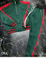 Gucci Green and Red Touch Suit