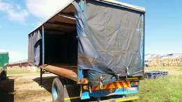 Afrit single axle curtain side trailer 9.0m