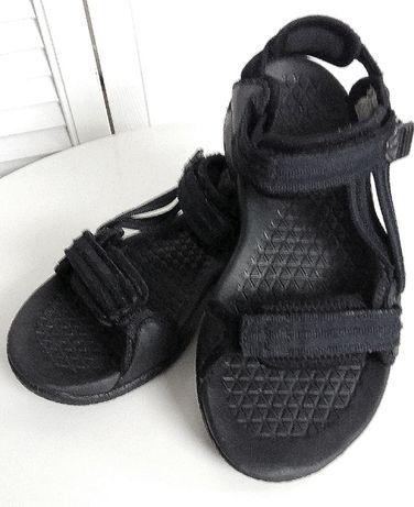Sandały damskie uni meskie czarne Adidas sportowe 38