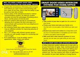 Free Installation of SMART Door Video Intercom for your home security