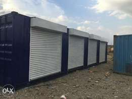 40ft container refurbished.four shops to let
