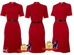 Plus Size Red Belted Dress From UK