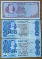 1970's Uncirculated R1,x2 1980's R2 notes