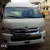 Clean and sound Toyota Hiace High roof bus tokunbo 2014 model.