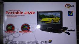 Portable DVD/USB/ TV player with 7.8 inch screen, new in shop.