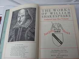 The Complete Works of William Shakespeare vintage - rare - Oldhams an