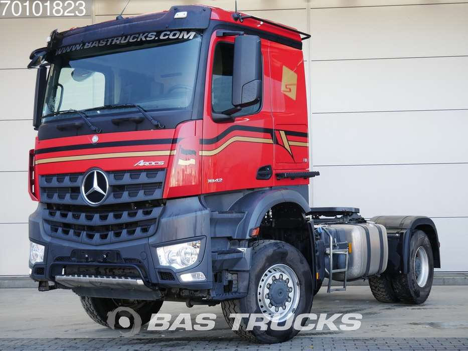 Mercedes-Benz Arocs 1842 LS 4X4 4x4 Big-Axle Hydraulik Steelsuspension ... - 2017
