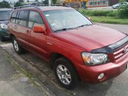 6 month used toyota highlander 2003 limited edition tincan cleared