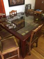 Table 8 Seater glass and wood.