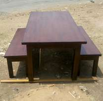 Dinning table with benches